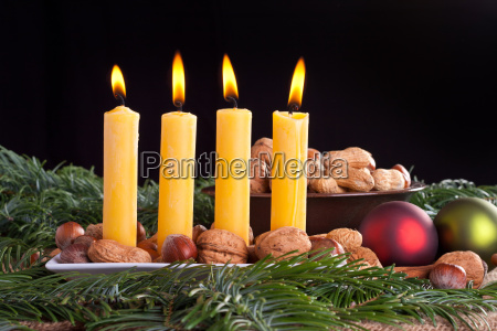 advent four fourth candle burn flame