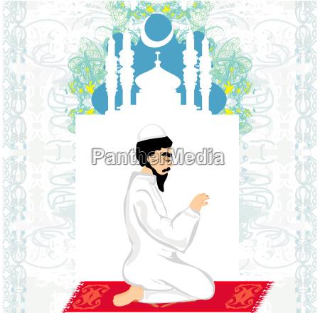 abstrakter religioeser hintergrund muslimischer mann
