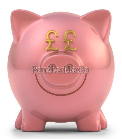piggy bank pound sterling