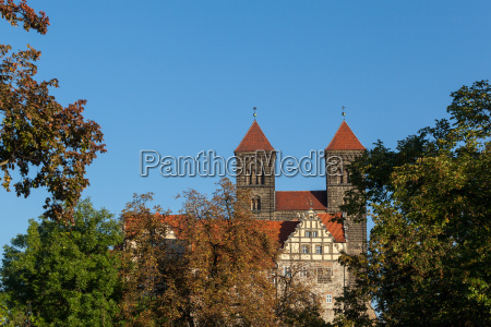 view of the collegiate church quedlinburg