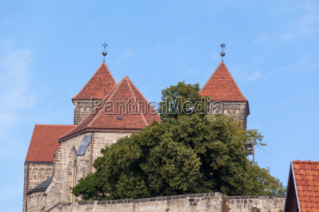 view to the castle quedlinburg with