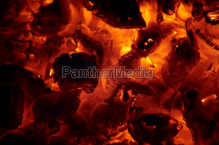 glowing ashes embers