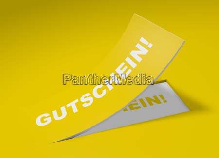 3d yellow label voucher