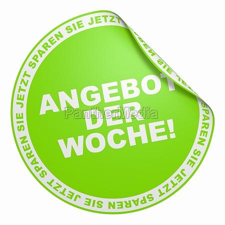 3d sticker light green offer