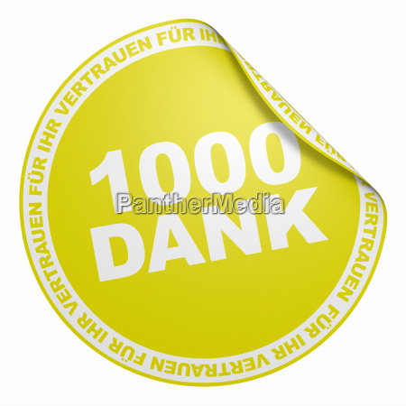 3d sticker yellow 1000 thanks