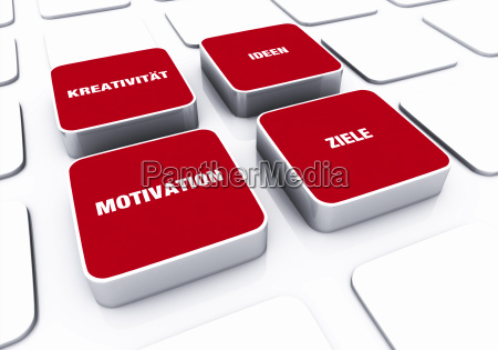 pad konzept rot motivation kreativitaet