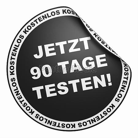 3d sticker black try 90
