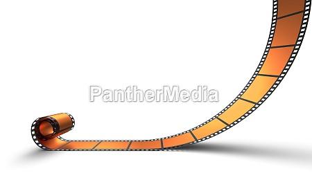 blanko filmrolle orange 06