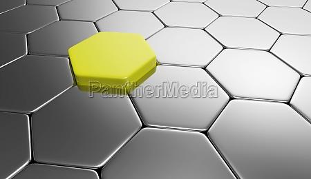 sechseck hintergrund gelb silber