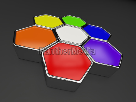 sechseck farbkreis