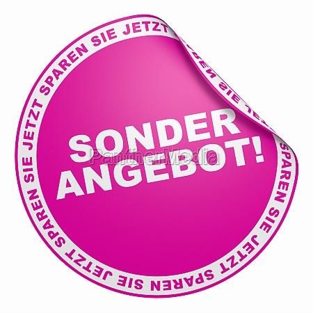 3d aufkleber pink sonderangebot