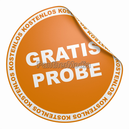3d aufkleber orange gratis probe