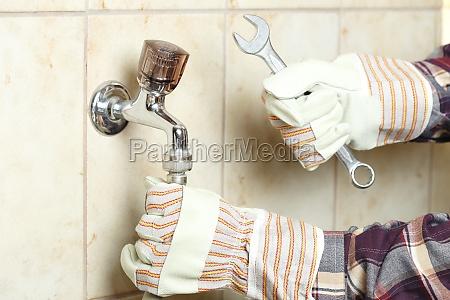 wasserschlauch montieren