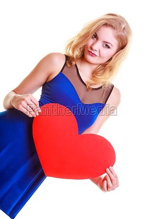 red heart card love symbol portrait