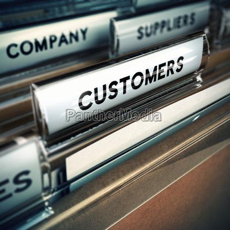 customers base or file concept