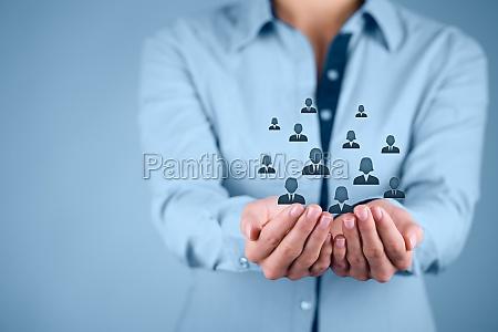 konzept kunden oder mitarbeiter pflege