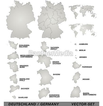 mappa boundary della germania con bordi