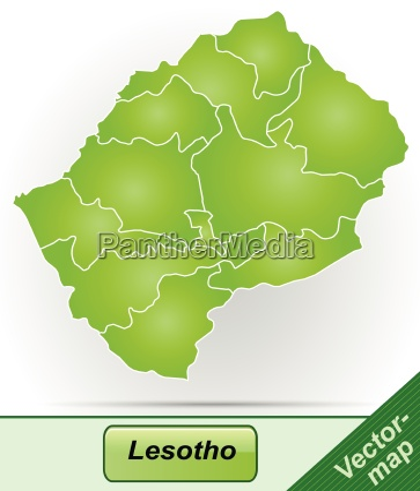 grenzkarte von lesotho mit grenzen in