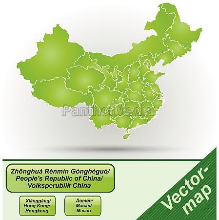 grenzkarte von china mit grenzen in