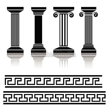 antike saeulen