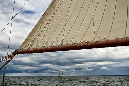 unter segeln