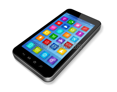 smartphone touchscreen hd apps icons