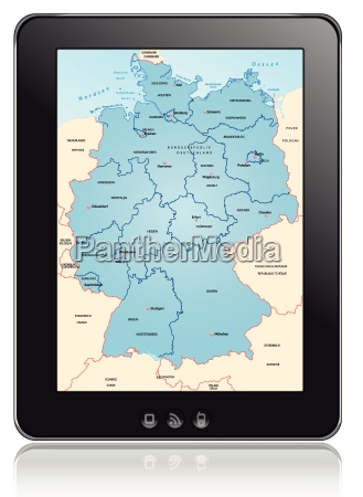 map of germany as a navigation