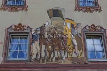 lueftlmalerei mittenwald oberbayern bayern deutschland europa