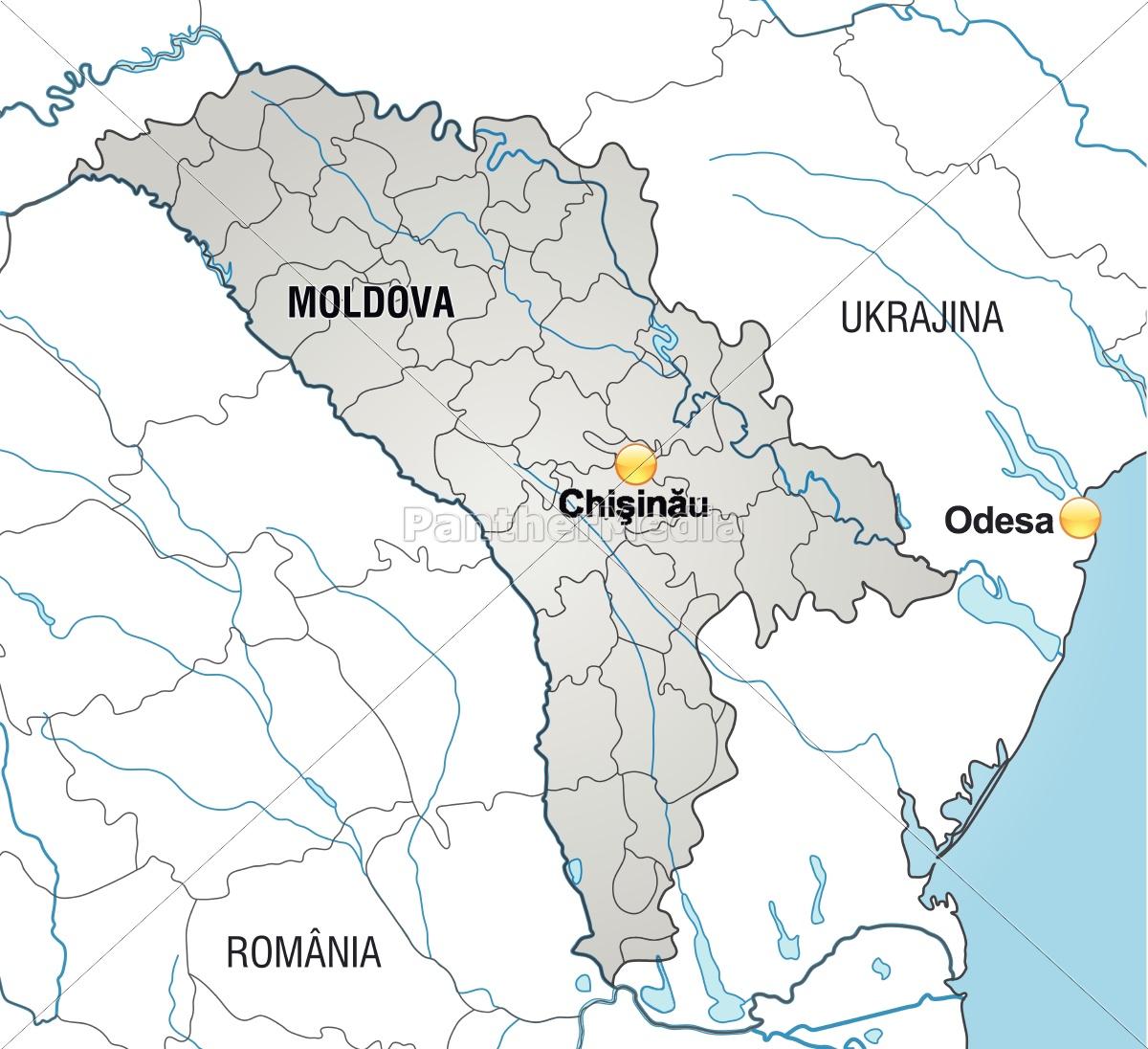 Moldawien Karte.Lizenzfreie Vektorgrafik 10641727 Karte Von Moldawien Mit Grenzen In Grau