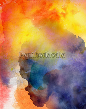 watercolor abstract colorful