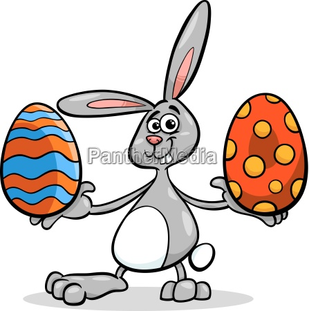 bunny and easter egg cartoon illustration
