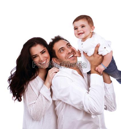 spielerische junge familie
