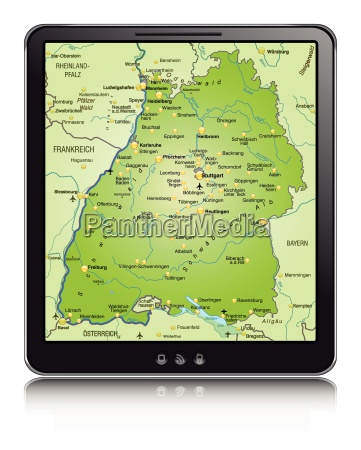 map of baden wuerttemberg as a