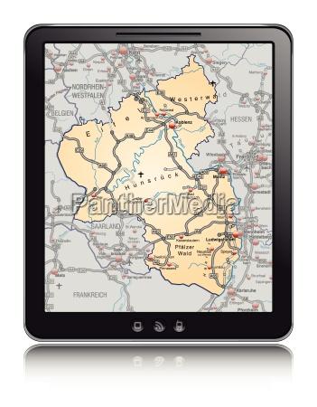 map of rhineland palatinate as a