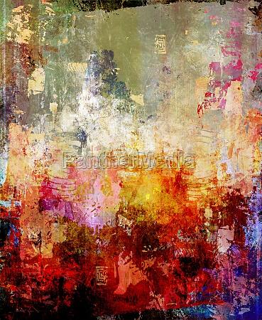 painting abstract mixed media