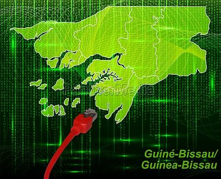 karte von guinea bissau mit grenzen