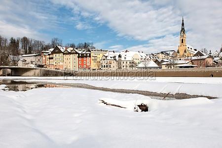 winter altstadt kurort schnee bad toelz