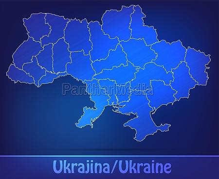 karte von ukraine mit grenzen als