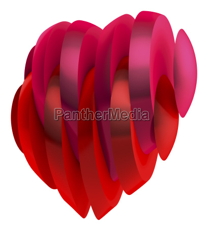 heart made of slices of red