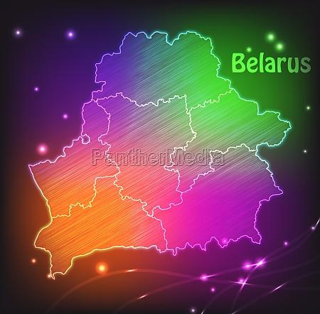 karte von weissrussland mit grenzen als