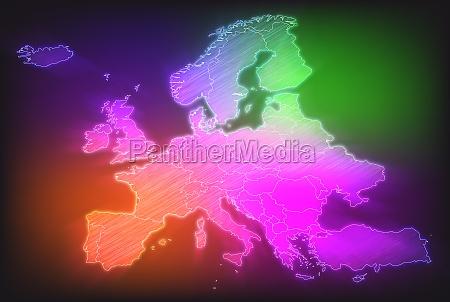 karte von europa mit grenzen in