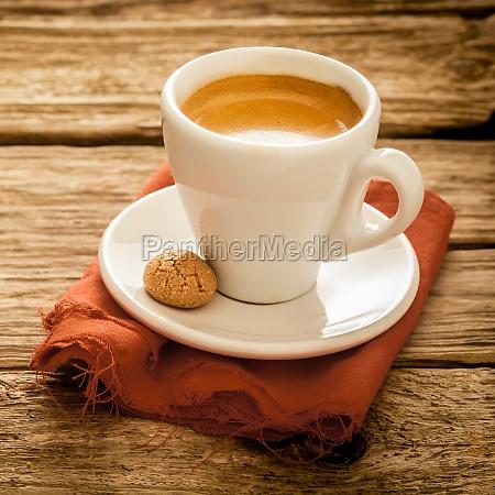 cup of delicious freshly brewed espresso