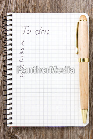 to do list on white paper
