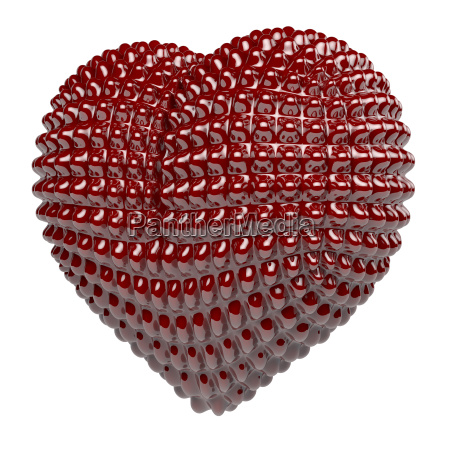 red high glossy latex heart with