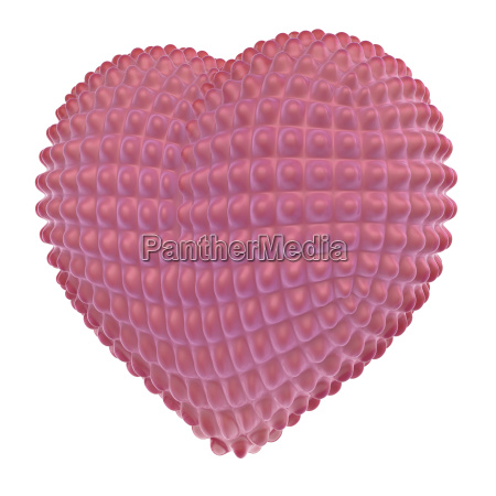 red latex heart with knobs on
