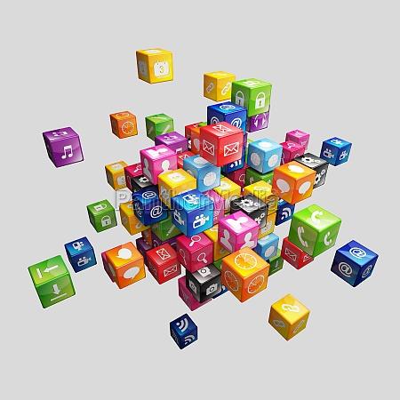 cube icon set