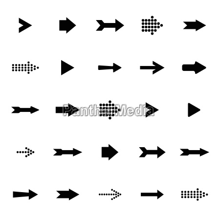 arrow sign icon vector set