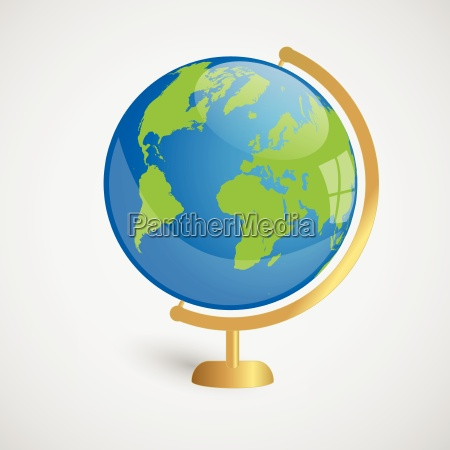 earth globe vector illustration