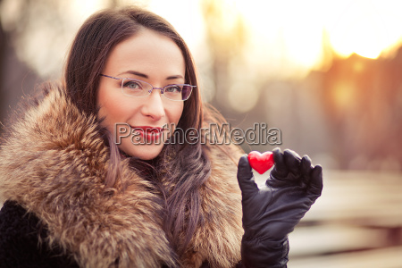 valentines day girl with gift