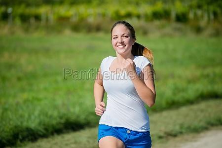 jogging in nature
